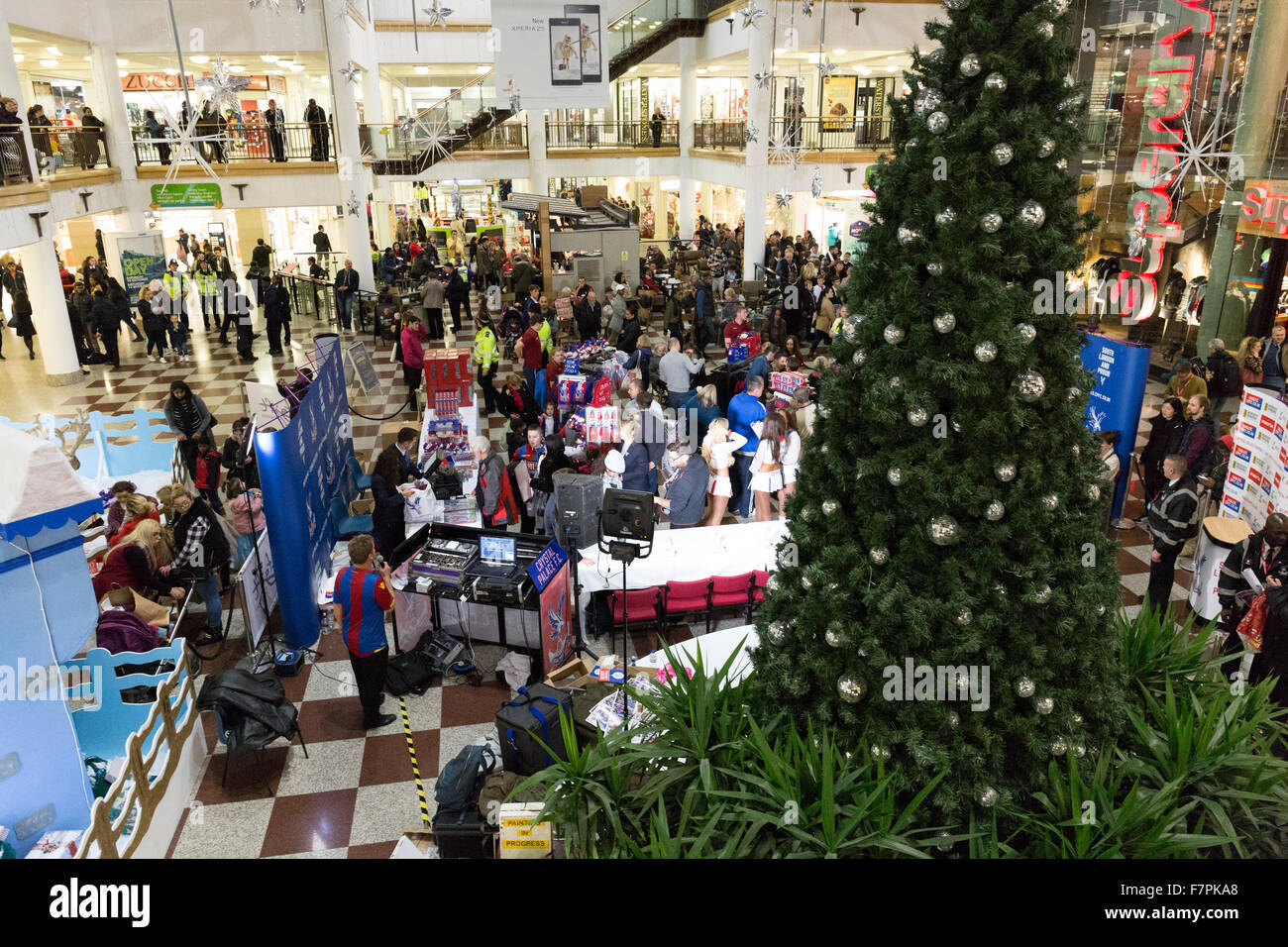 fc2f766ec10 Crystal Palace football club supporters at a Christmas event in the  Whitgift Centre