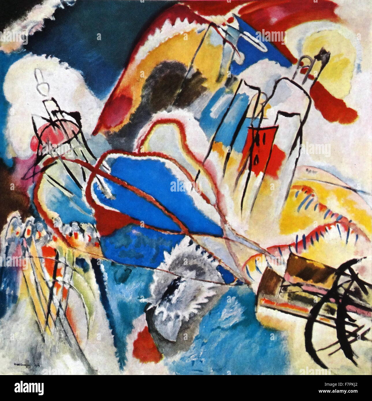 Painting titled 'Improvisation No. 30' by Wassily Kandinsky (1866-1944) Russian painter and art theorist. - Stock Image