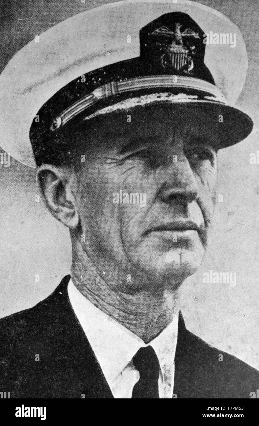 Photograph Of Fleet Admiral Ernest Joseph King 1878 1956 Commander In Chief United States COMINCH And Naval Operations CNO During