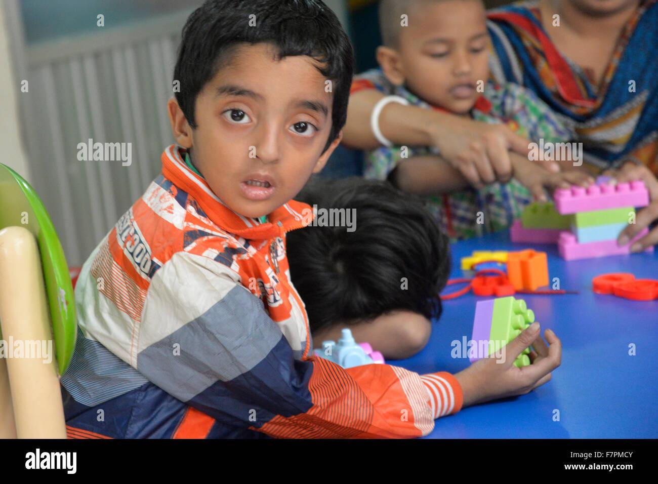 Bangladeshi Many Autistic Children Are Taking Speech And Language Therapy At Institute Of Paediatric Neurodisorder Autism In The Bangabandhu Sheikh