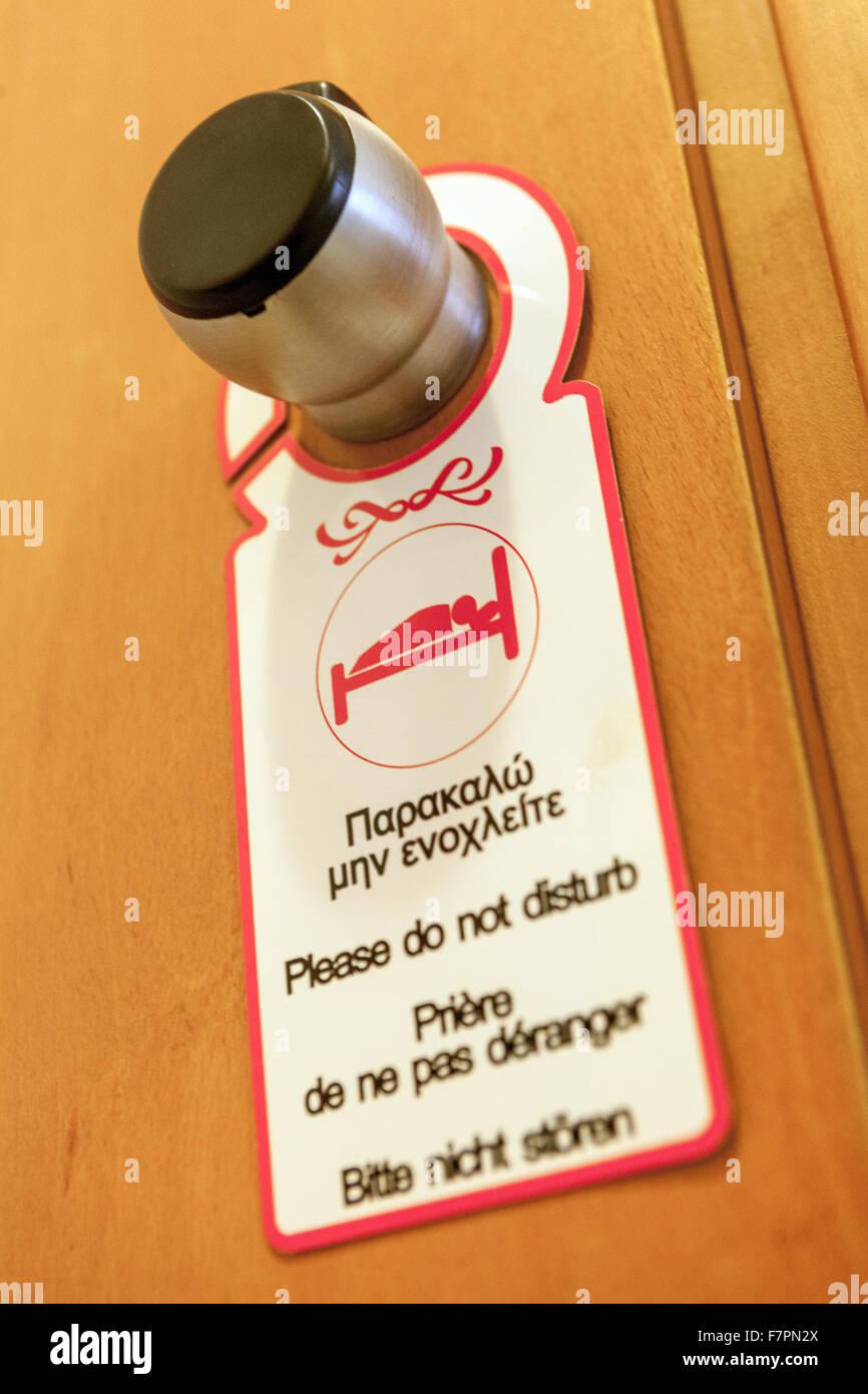 Please do not disturb door handle notice & Please do not disturb door handle notice Stock Photo: 90853922 - Alamy