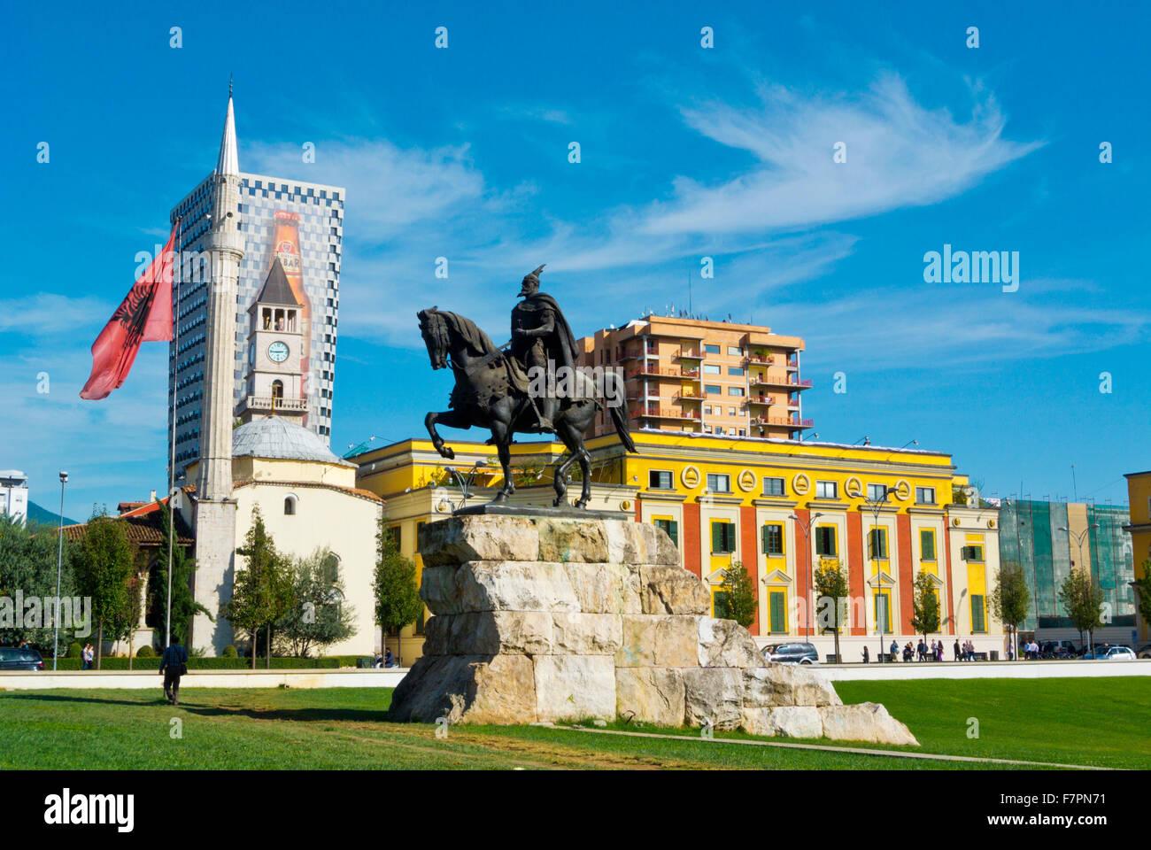 Sheshi Skenderbej,Skanderbeg square, main square, Tirana, Albania - Stock Image