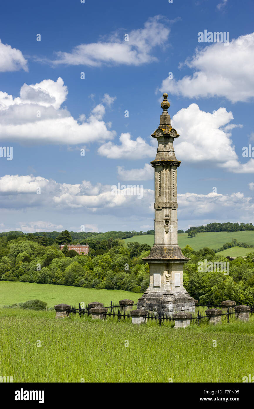 The Monument to Isaac Disraeli, father of Benjamin, at Hughenden, Buckinghamshire. Hughenden was the home of the - Stock Image