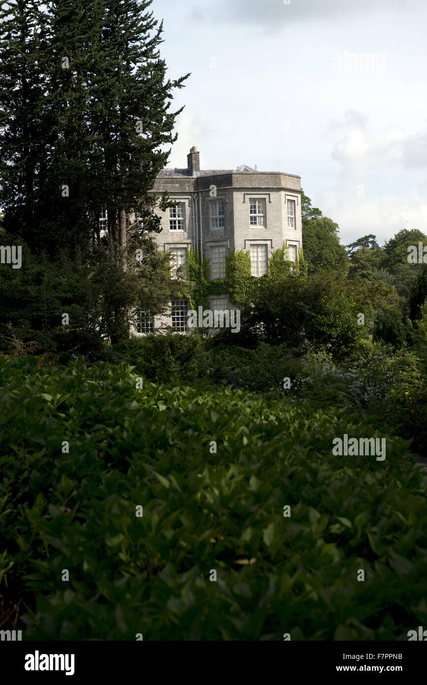 View of the house from the garden at Plas Newydd Country House and Gardens, Anglesey, Wales. This fine 18th century Stock Photo