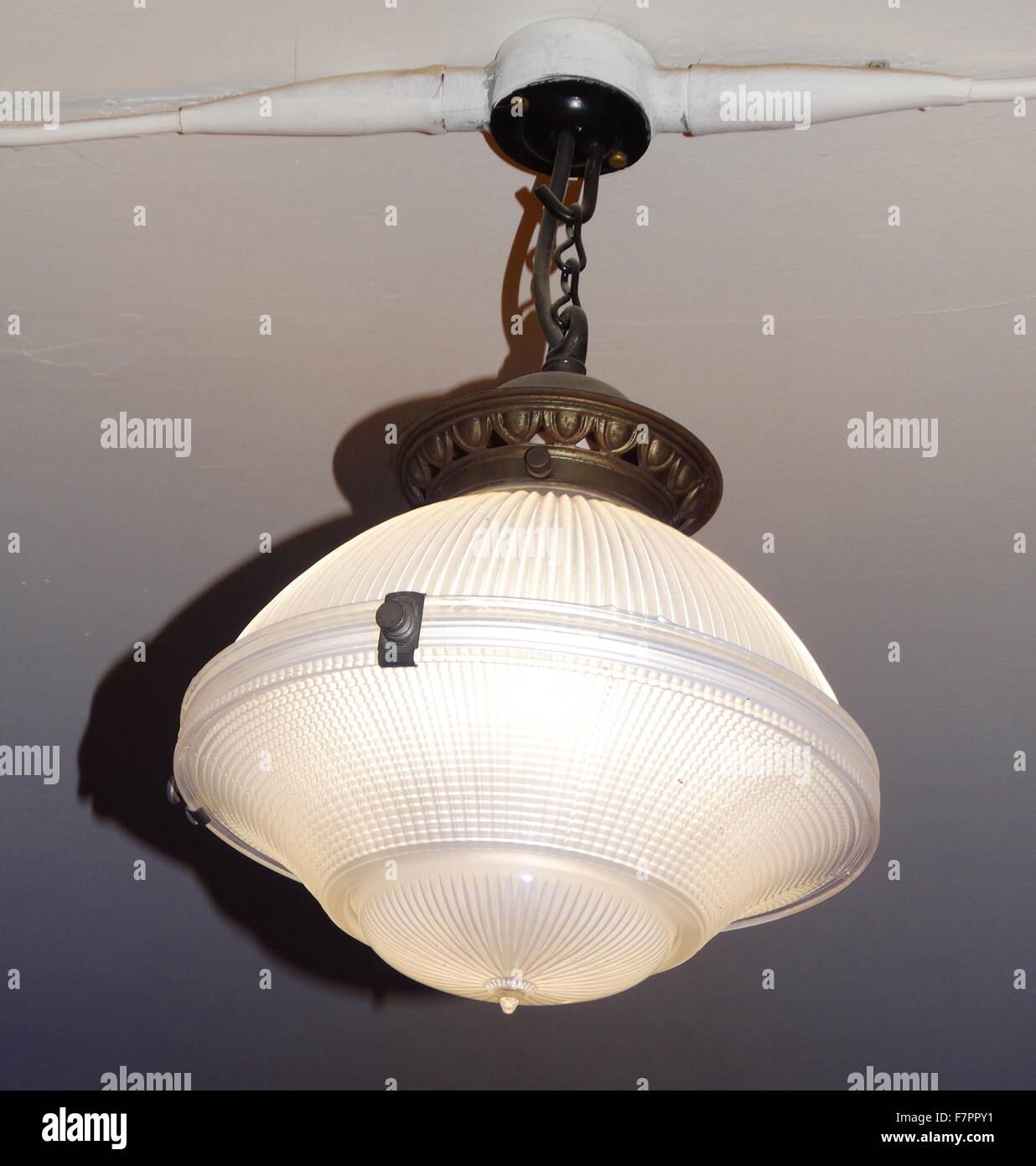 1930's domestic light from an English home - Stock Image