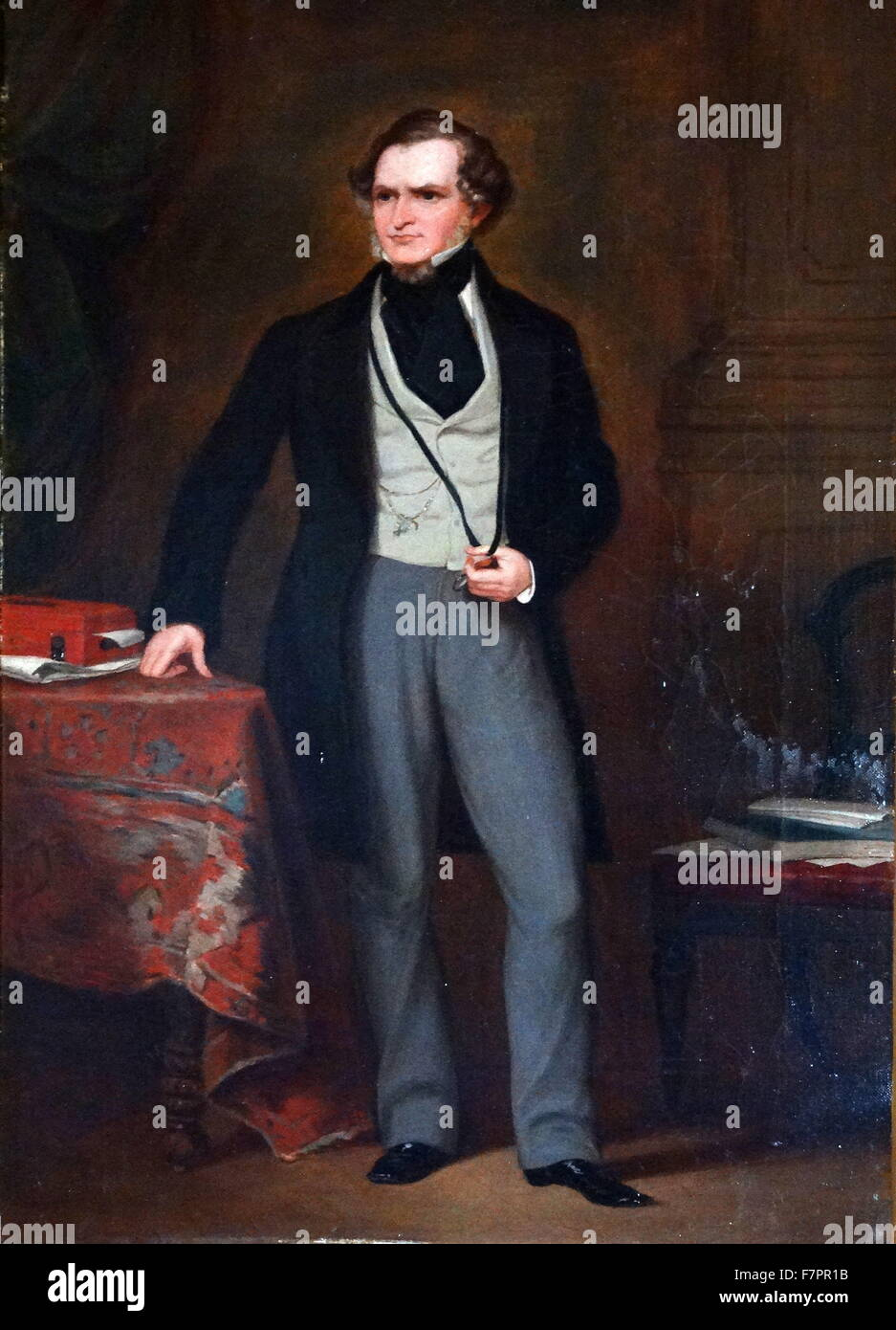 Edward George Smith-Stanley, 14th Earl of Derby (1799 – 1869). British statesman, three times Prime Minister of - Stock Image