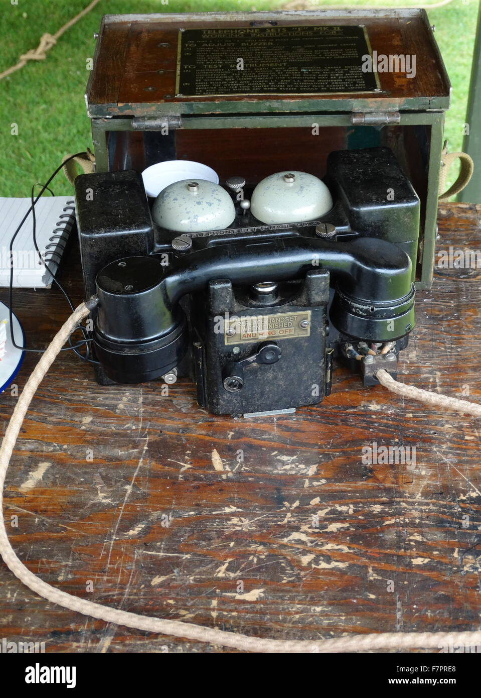 World war two 'F' MK II portable telephone sets for the British army - Stock Image