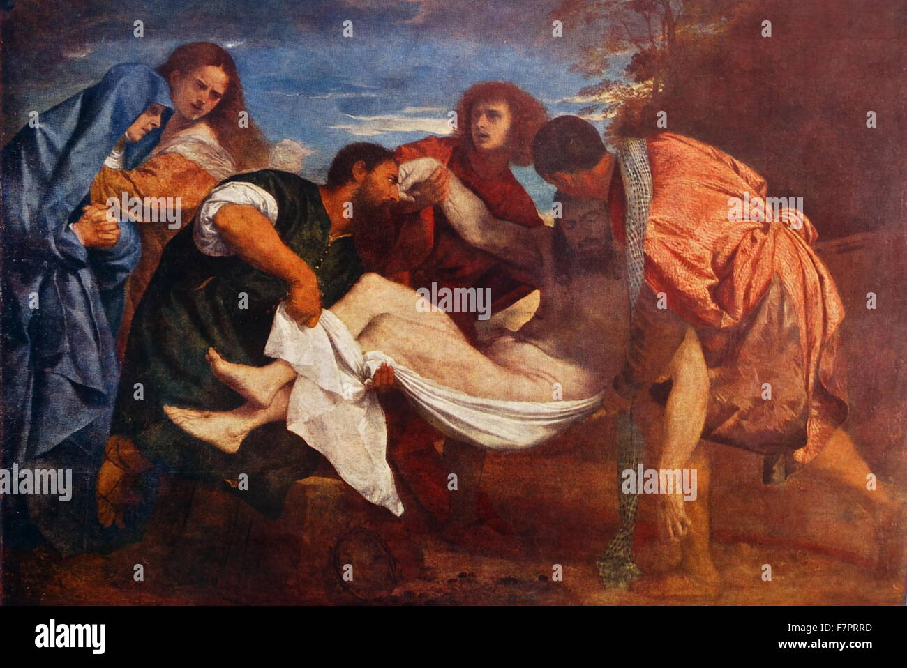 The Entombment of Christ. circa 1525 by Titian - Stock Image