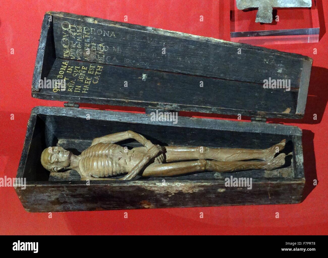 Memento Mori. Italian, made from wood, 16th Century. - Stock Image