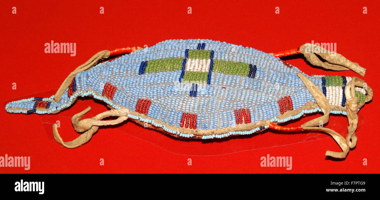 A child's amulet. From the Sioux people of the Northern Plains, USA, 1880-1920. - Stock Image