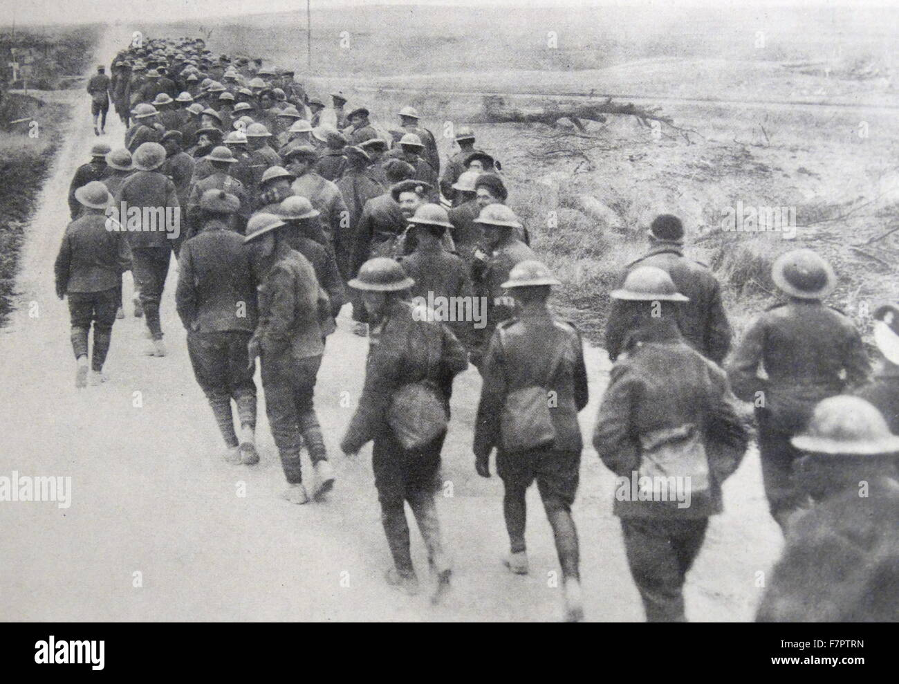 British prisoners of war captured by German forces, during World war One 1915 Stock Photo