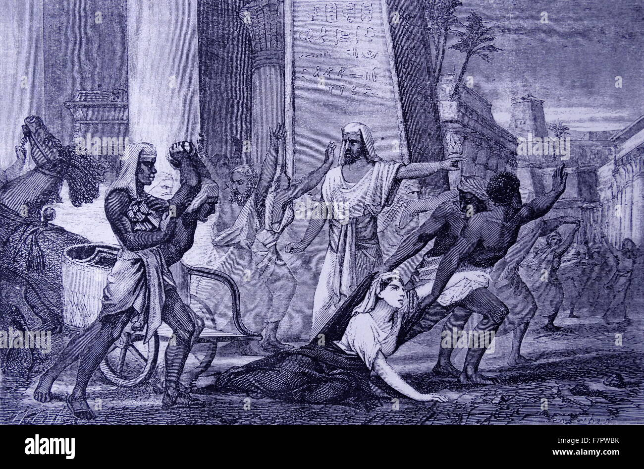 HYPATIA (c.3.70-415) mathematician and philosopher (NE0PLAT0NIST), murdered by the followers of Cyril, Patriarch - Stock Image