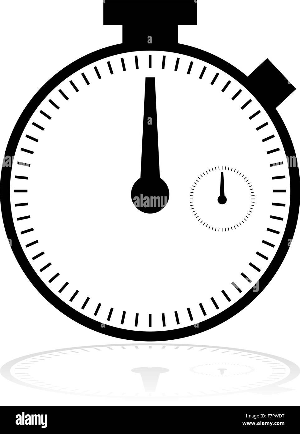 Chronometer icon - Stock Image