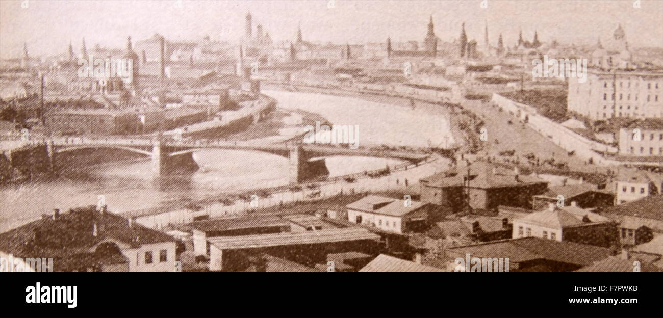 Tsarist Empire: Moscow, Russia. 1914 - Stock Image