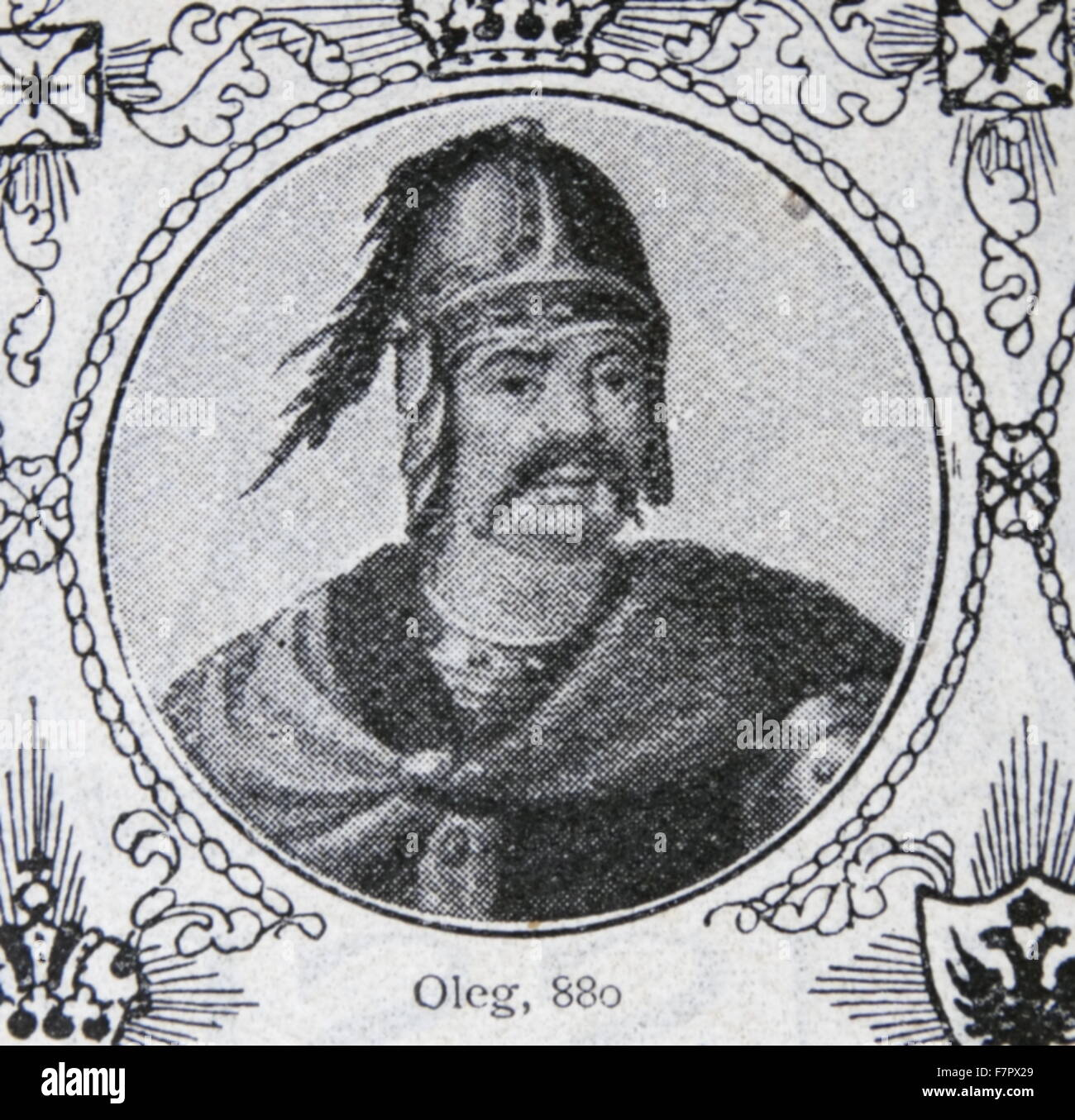 Oleg of Novgorod a Varangian prince (or konung) who ruled all or part of the Rus' people during the early 10th - Stock Image