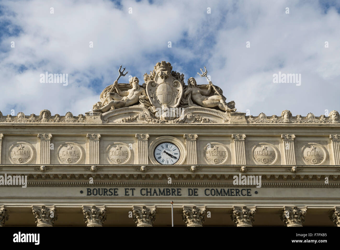 Marseille Stock Exchange and Chamber of Commerce - Stock Image