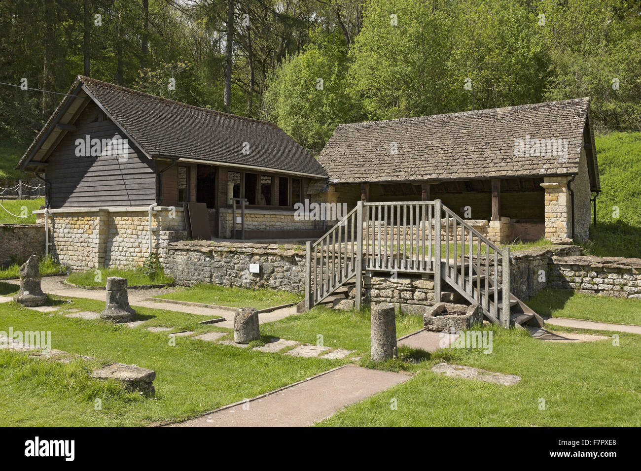 Modern buildings at chedworth roman villa gloucestershire chedworth roman villa was one of the grandest villas in roman britain and is one of the