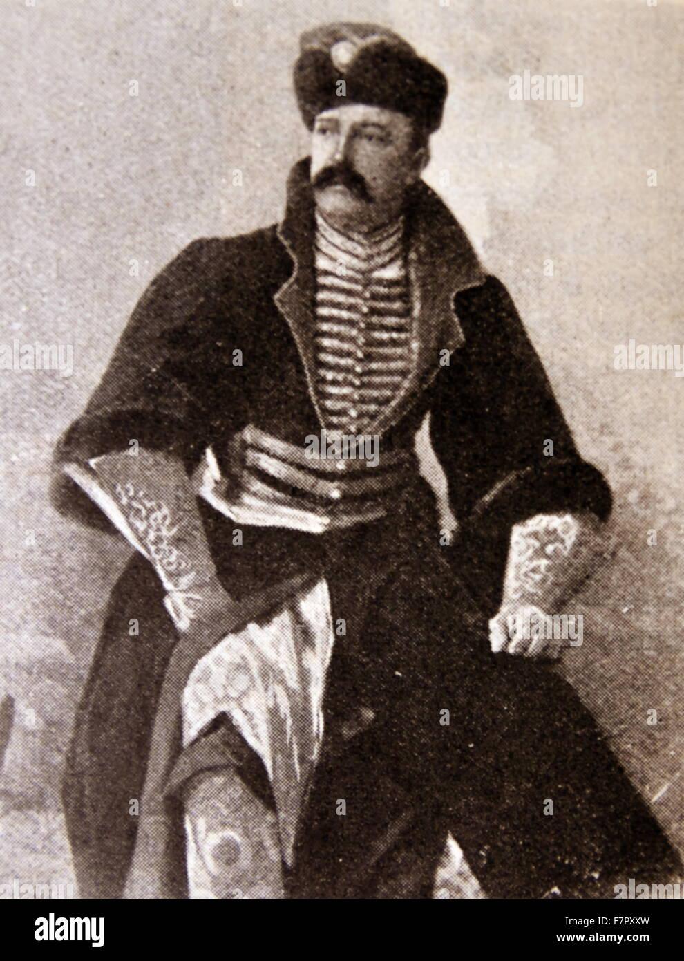 Romanov Grand Duke in dress uniform, Russia. circa 1860 - Stock Image