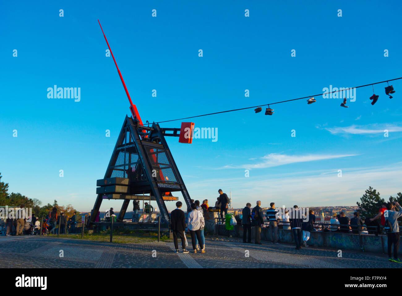 Metronome, Letna Park, Prague, Czech Republic - Stock Image