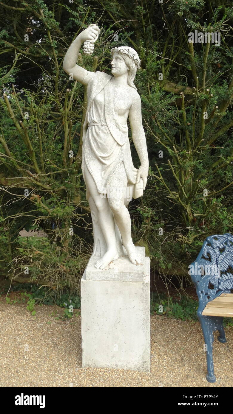Statue of a young girl in classical Greek style;Hughenden Manor;England. 19th century Stock Photo