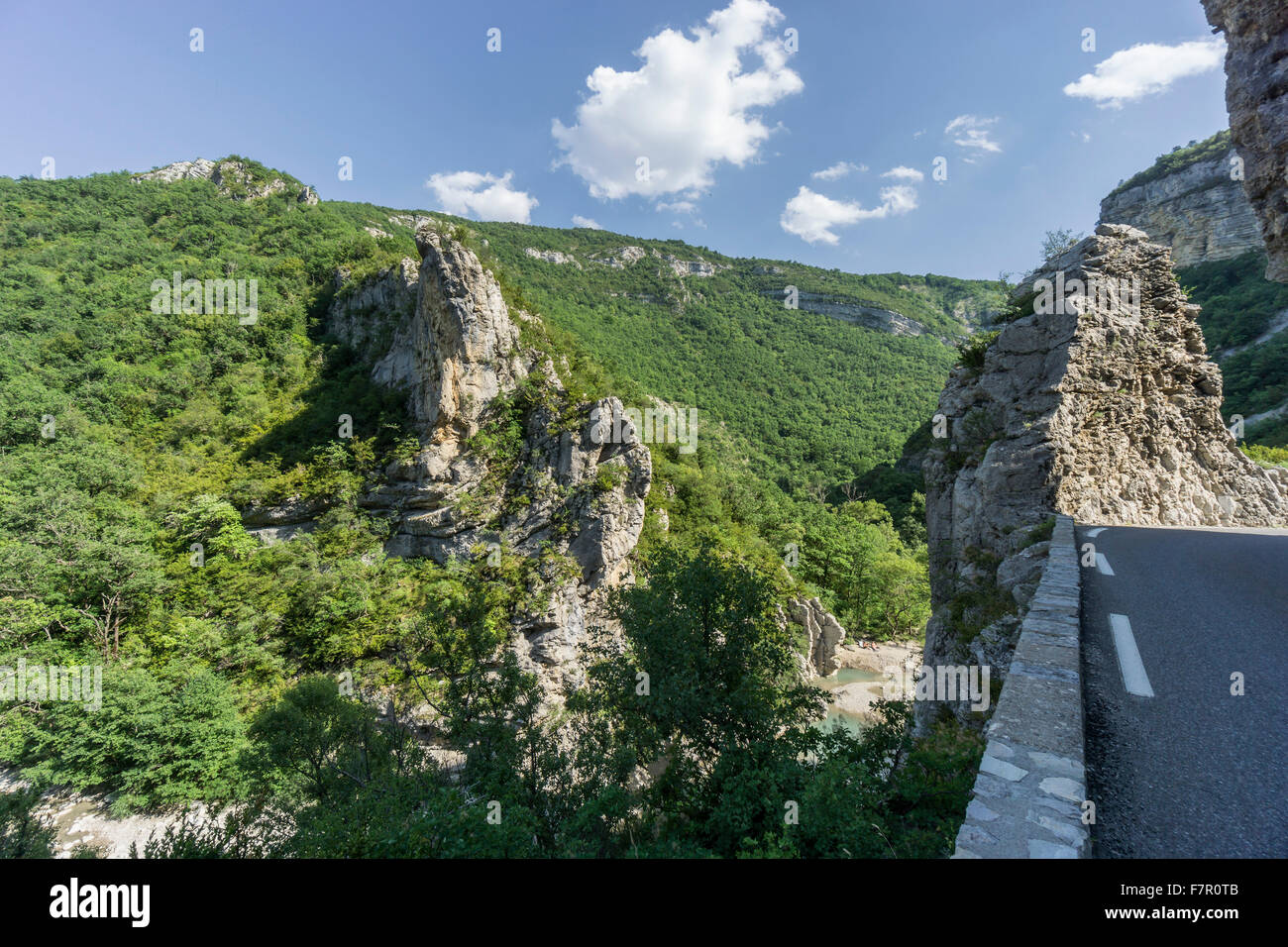 George de la Meouge, Durance, Rhone Alpes, South of France, Stock Photo
