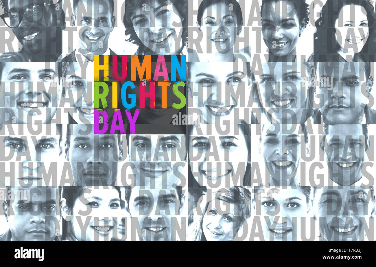 Composite image of human rights - Stock Image