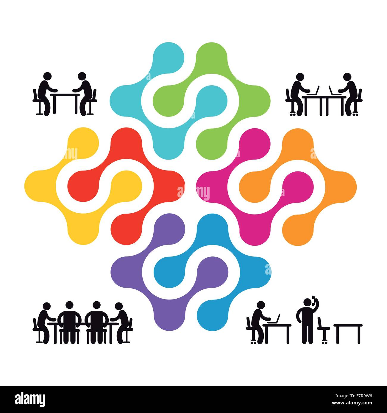 Cooperation and partnership - Stock Image