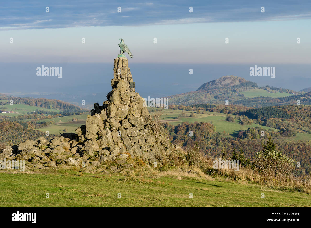The Aviator monument in the Rhoen on the Wasserkuppe. - Stock Image