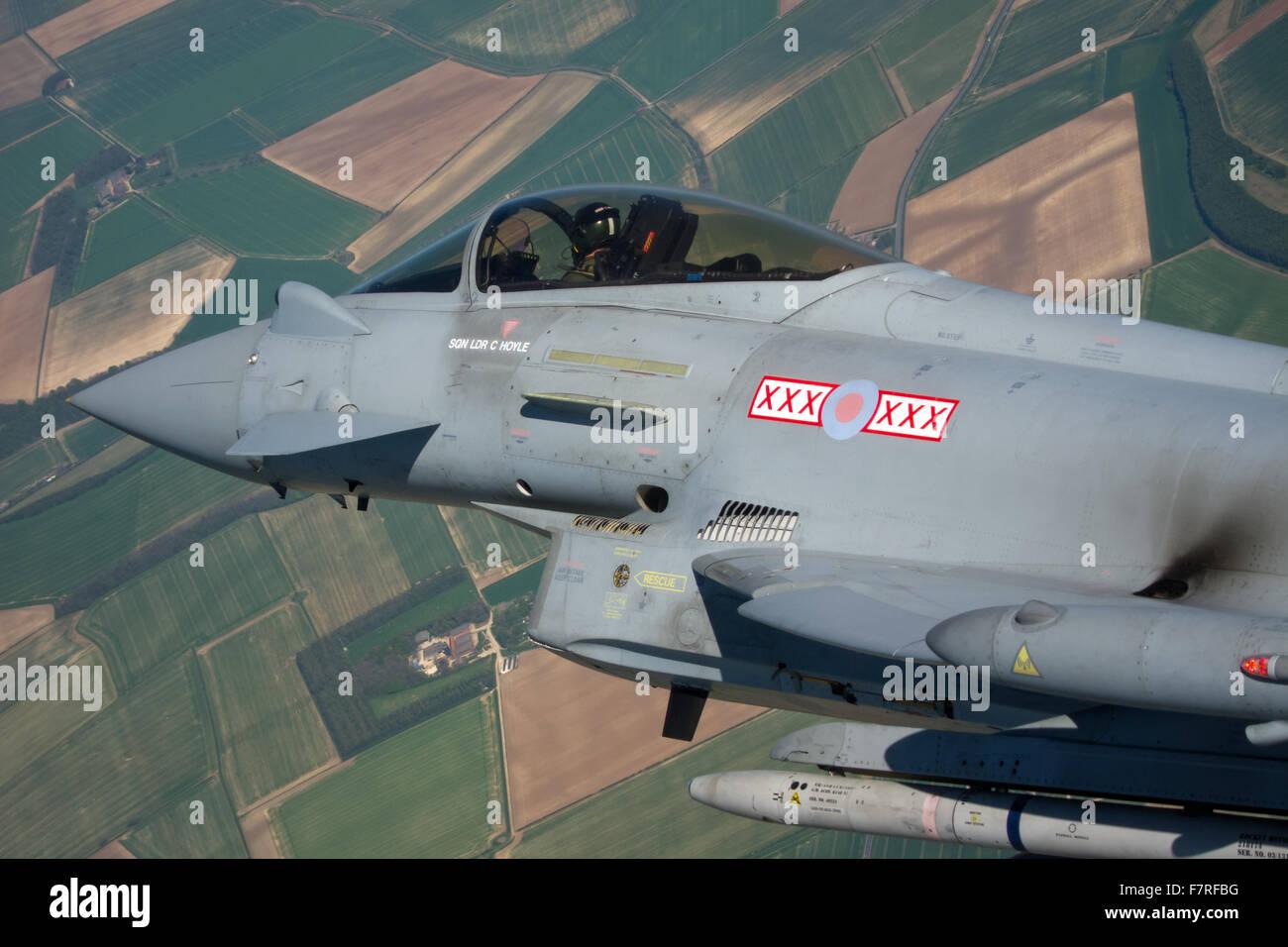 RAF Typhoon fighter - Stock Image