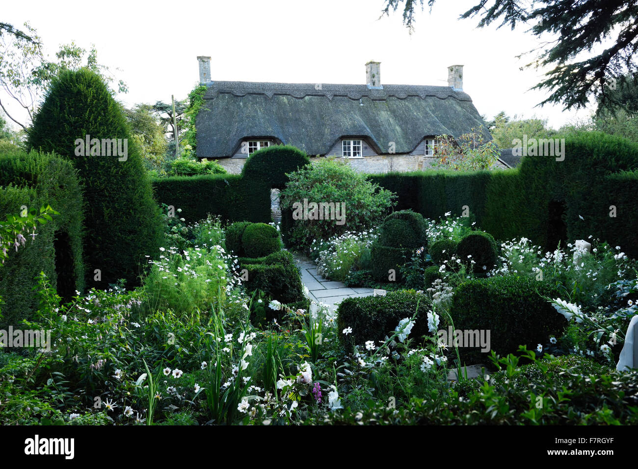 The summer at Hidcote, Gloucestershire. Hidcote is a world-famous Arts and Crafts garden, created by the American - Stock Image
