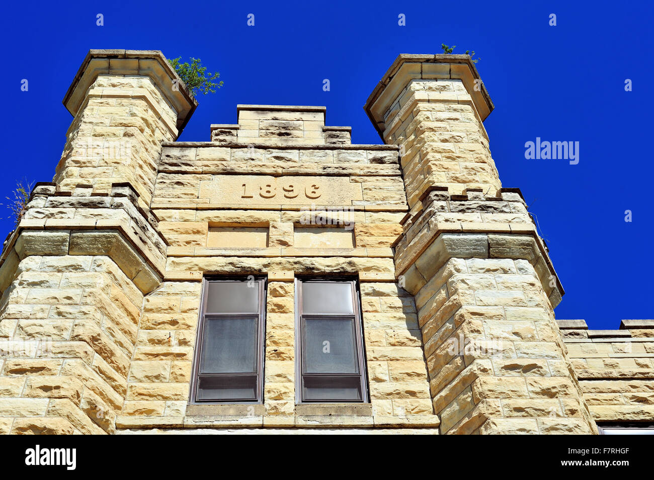 A building added in 1896 at the Joliet Correctional Center (also known as Illinois State Penitentiary and Joliet - Stock Image