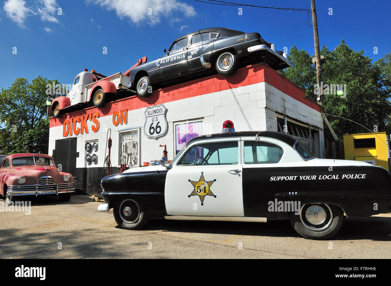 Garage and towing service on the old historic route 66 for Garage route 66 metz