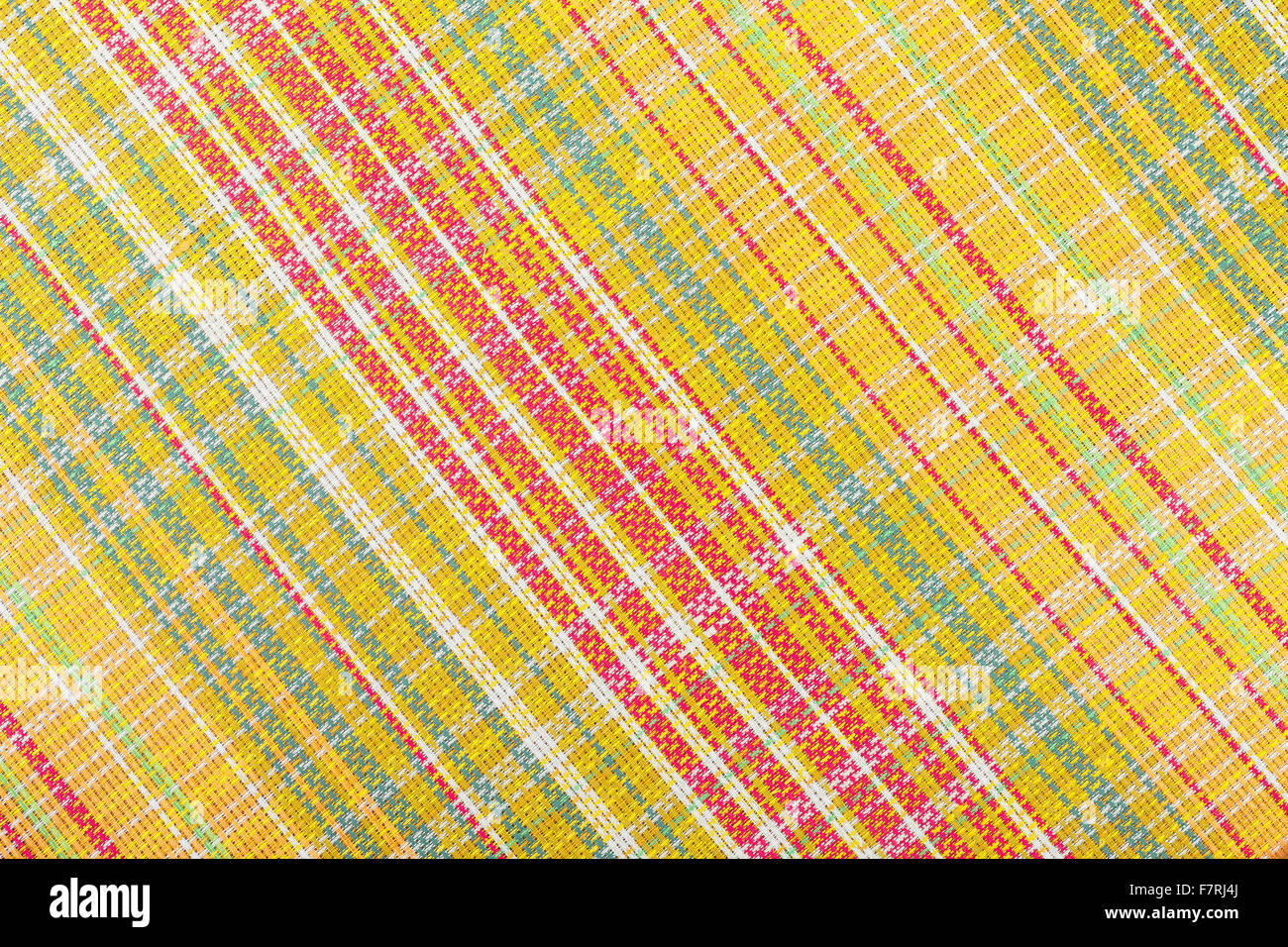 Fabric in check pattern texture or background Stock Photo