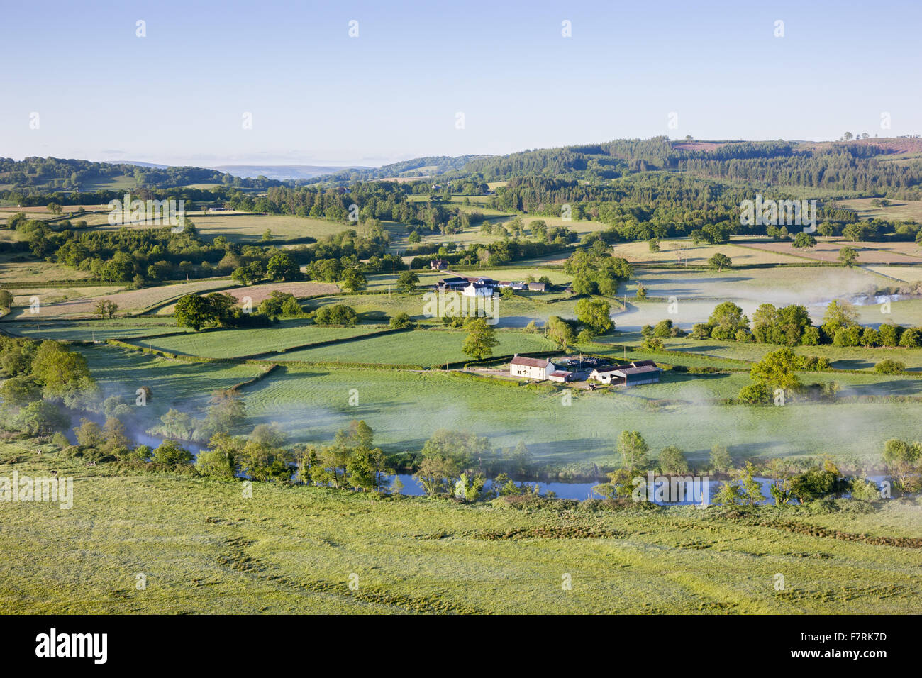 View from the castle towards the River Towy at Dinefwr, Carmarthenshire, Wales. Dinefwr is a National Nature Reserve, - Stock Image