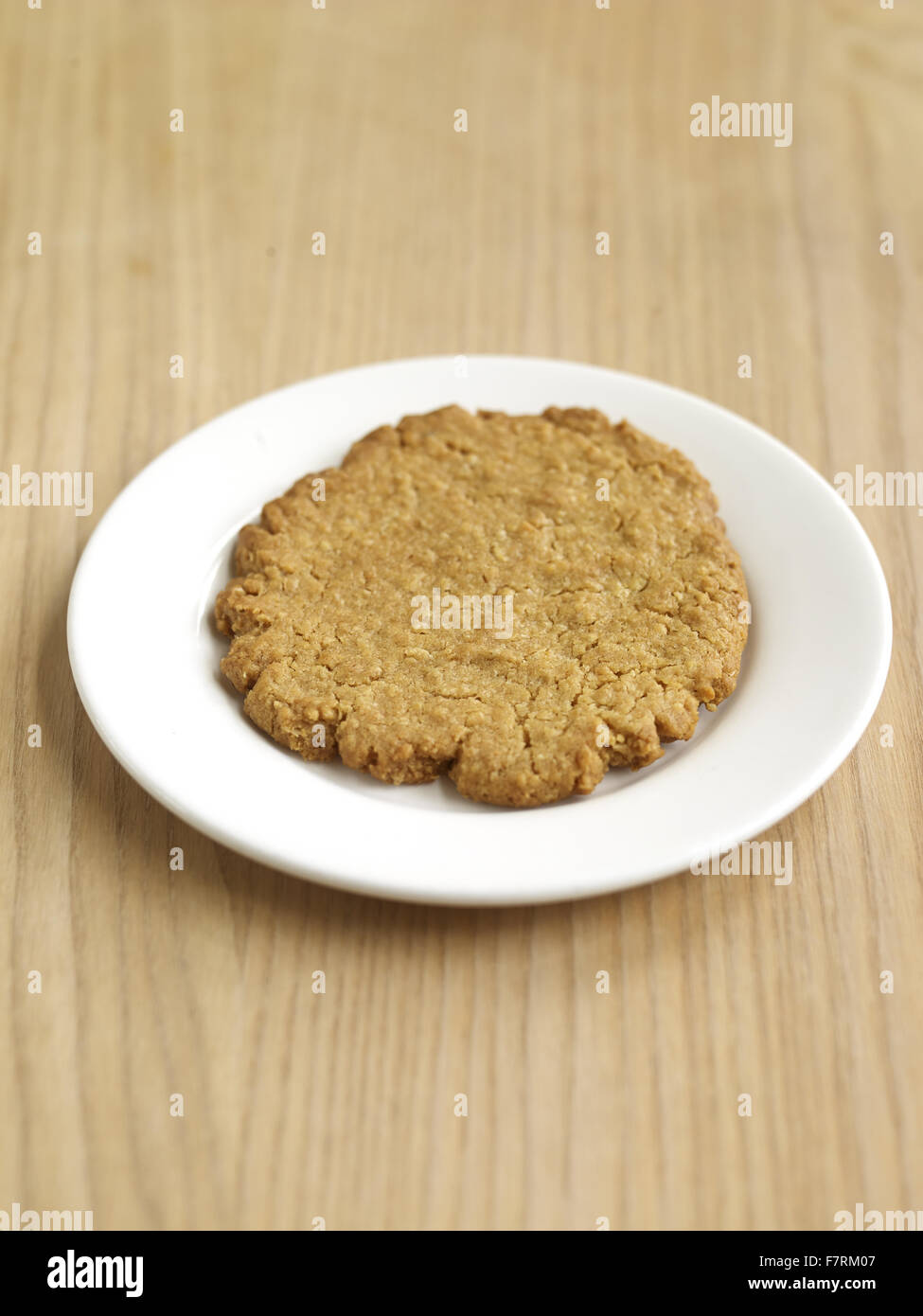 Oat and coconut cookie photographed for the 2015 National Trust Summer Cookbook. - Stock Image