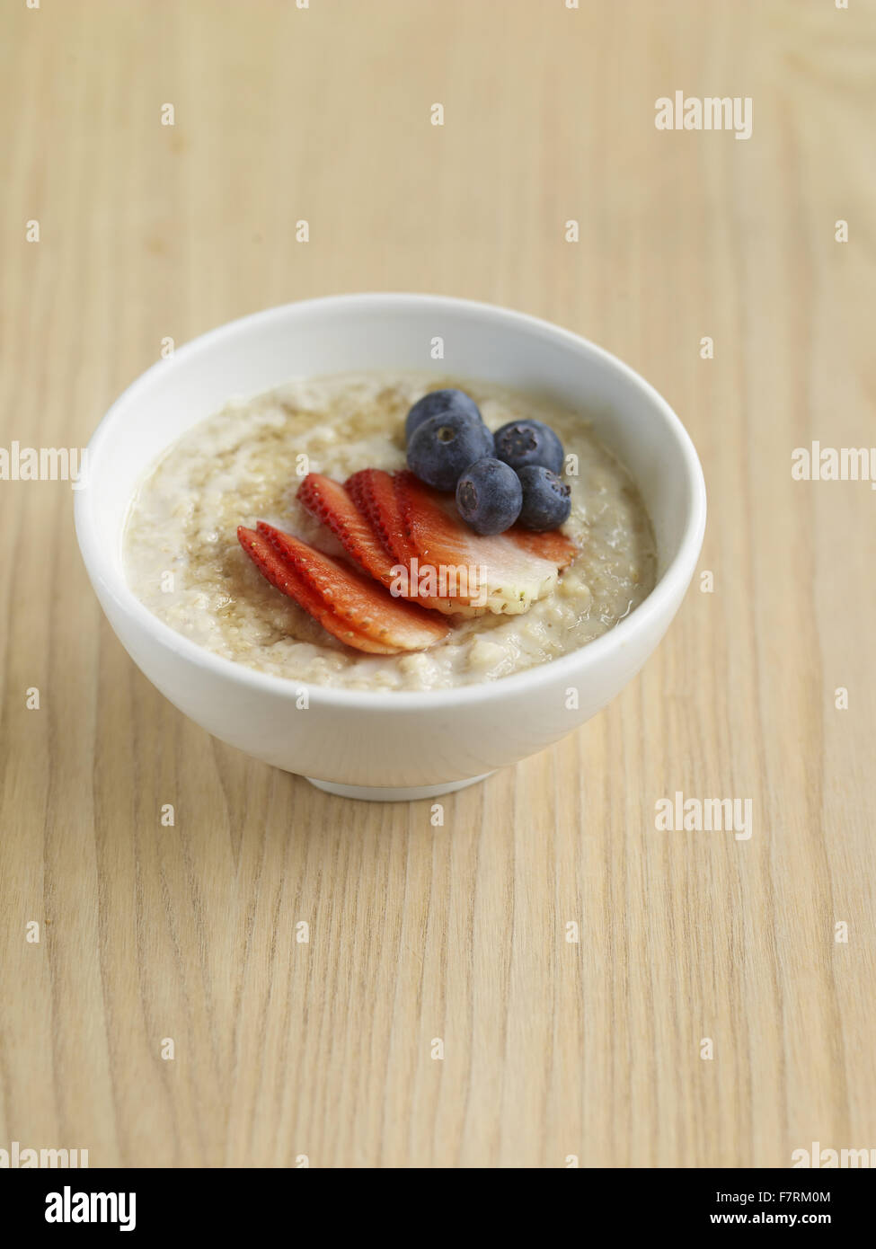 Porridge photographed for the 2015 National Trust Summer Cookbook. - Stock Image