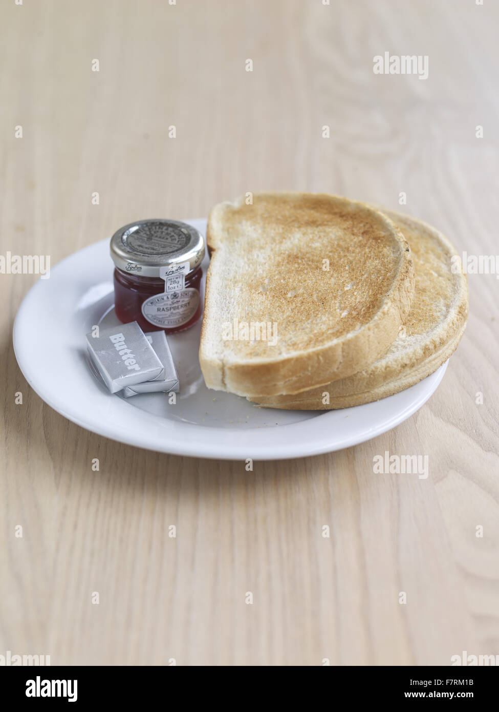 Toast and jam photographed for the 2015 National Trust Summer Cookbook. - Stock Image