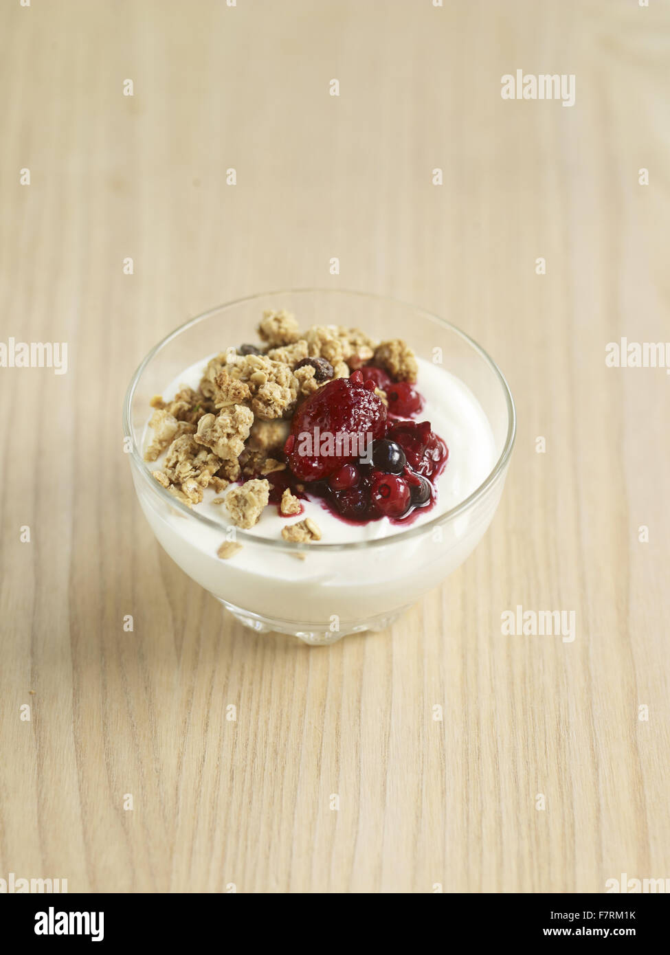 Yoghurt granola photographed for the 2015 National Trust Summer Cookbook. - Stock Image