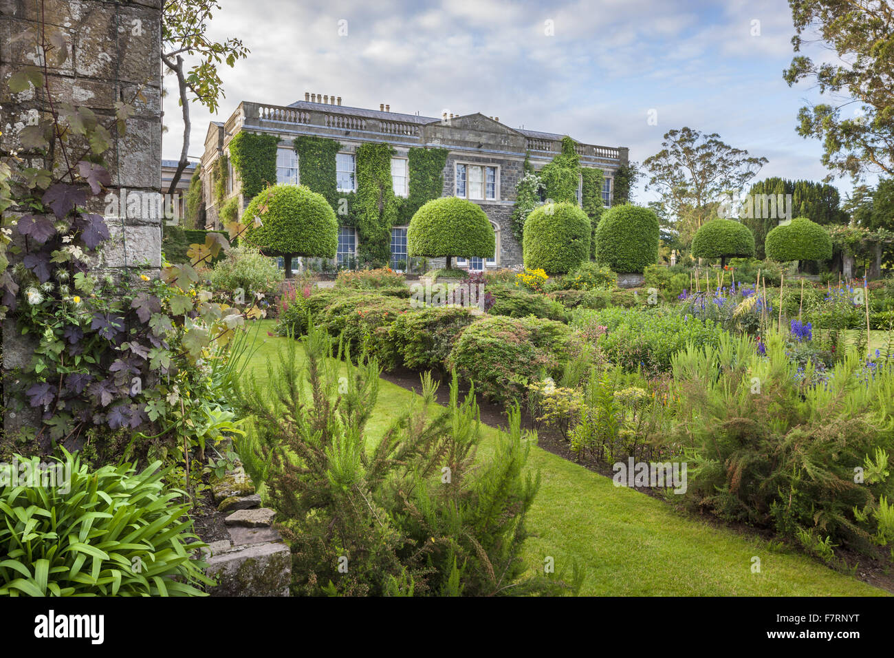 The West Front And Sunk Garden At Mount Stewart, County Down. Mount Stewart  Has Been Voted One Of The Worldu0027s Top Ten Gardens, And Reflects The Design  And ...