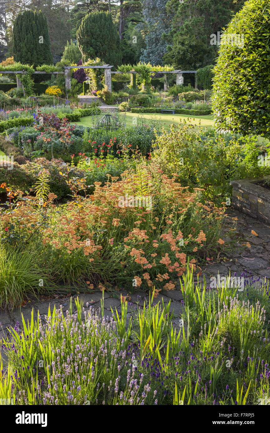 The Sunk Garden at Mount Stewart, County Down. Mount Stewart has been voted one of the world's top ten gardens, - Stock Image