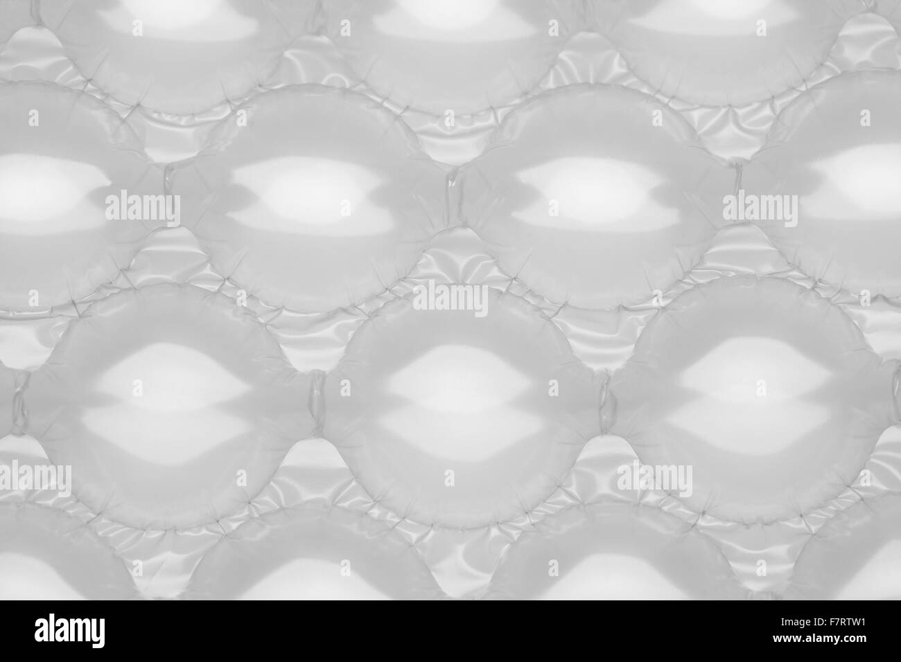 Clear Large Plastic Bubble Wrap Packaging Top View. - Stock Image