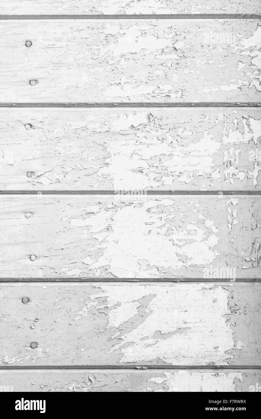 white old paint  wooden texture or painted planks background - Stock Image