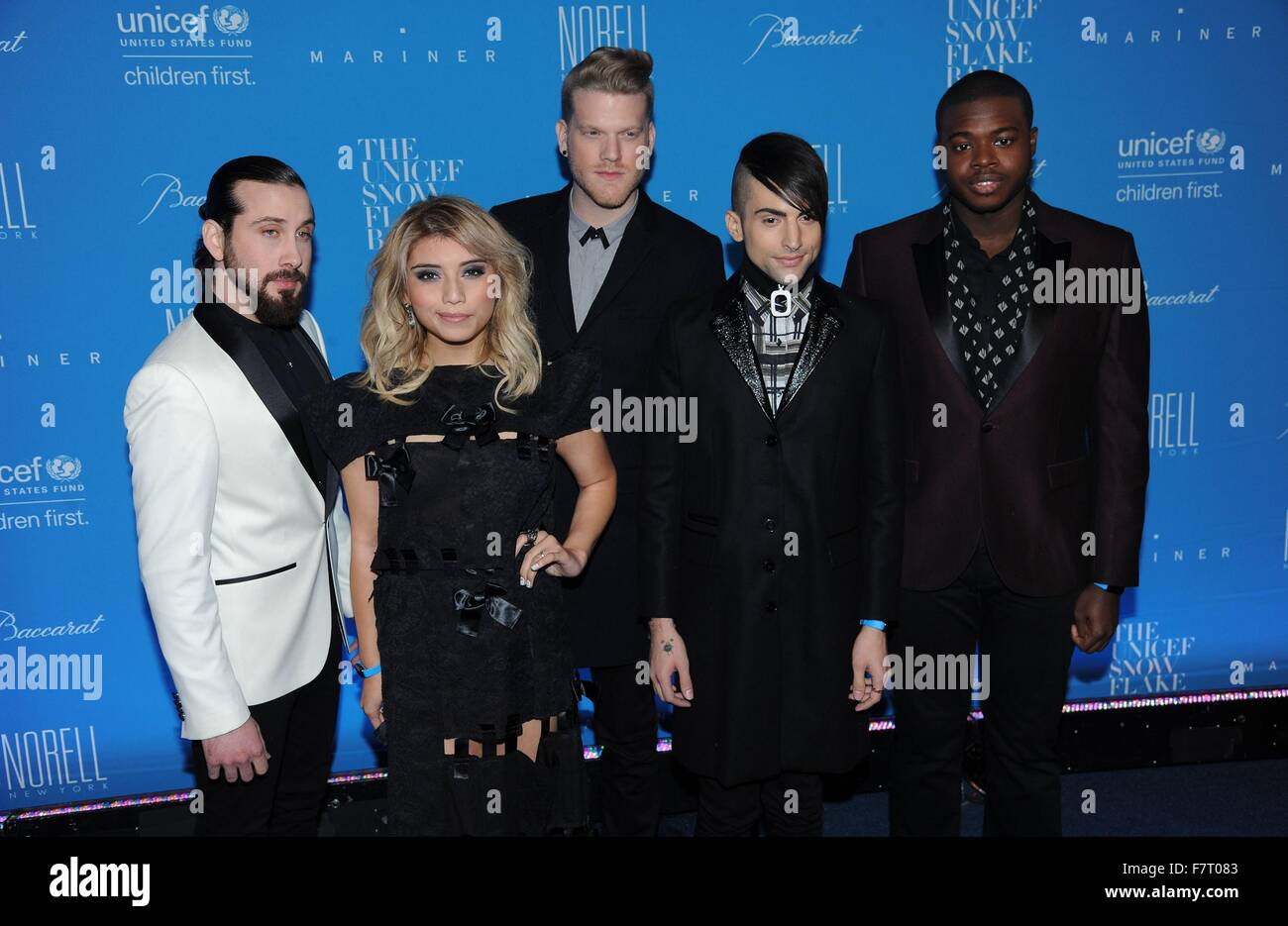 New York, NY, USA. 1st Dec, 2015. Pentatonix at arrivals for 11th Annual UNICEF Snowflake Ball, Cipriani Wall Street, Stock Photo