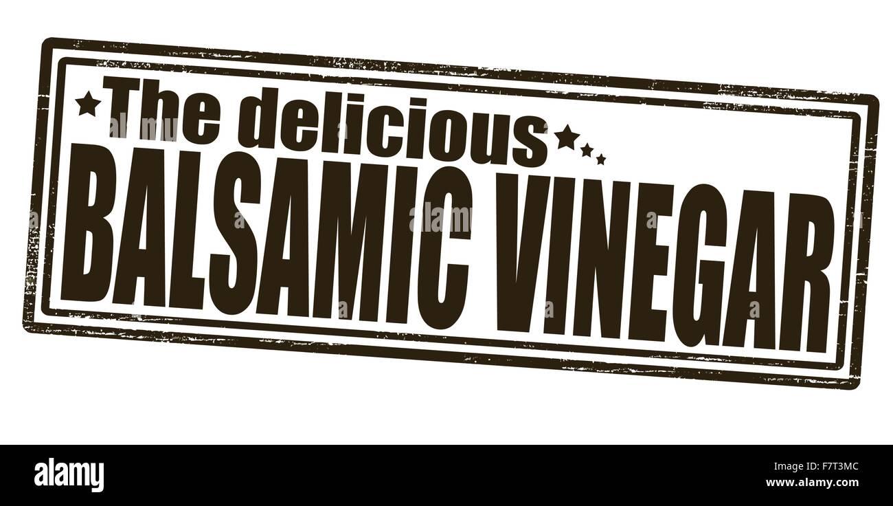 Delicious balsamic vinegar - Stock Vector