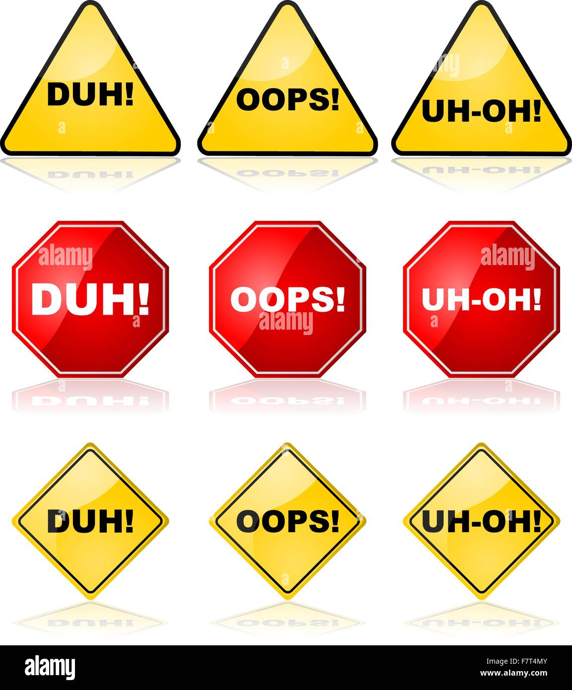 Mistake signs - Stock Image