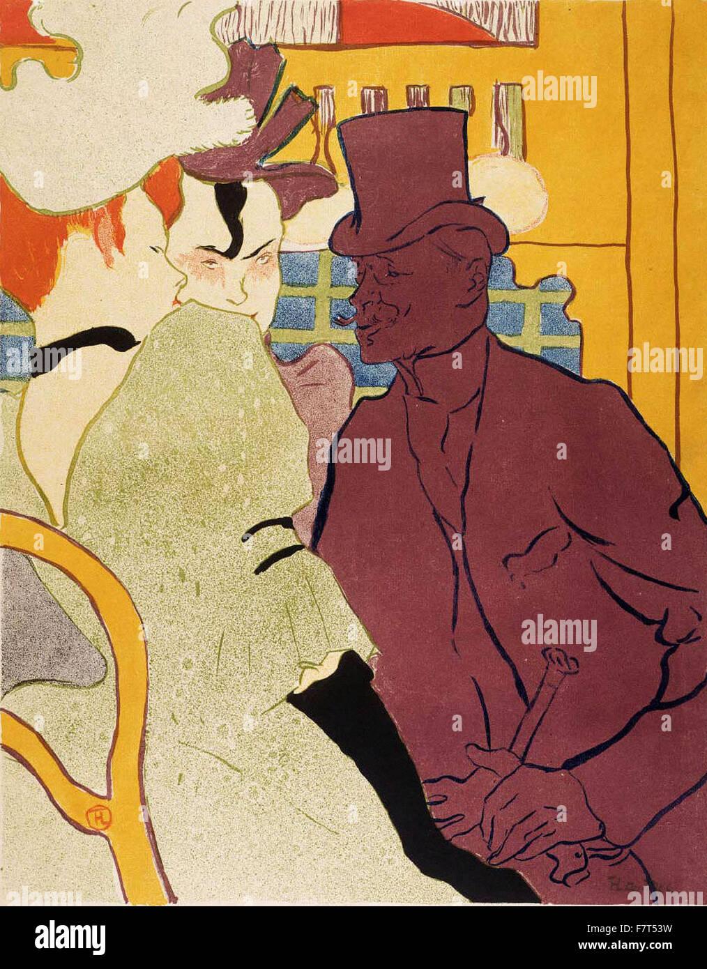 Henri de Toulouse-Lautrec - Flirt (An Englishman at the Moulin Rouge) - Stock Image