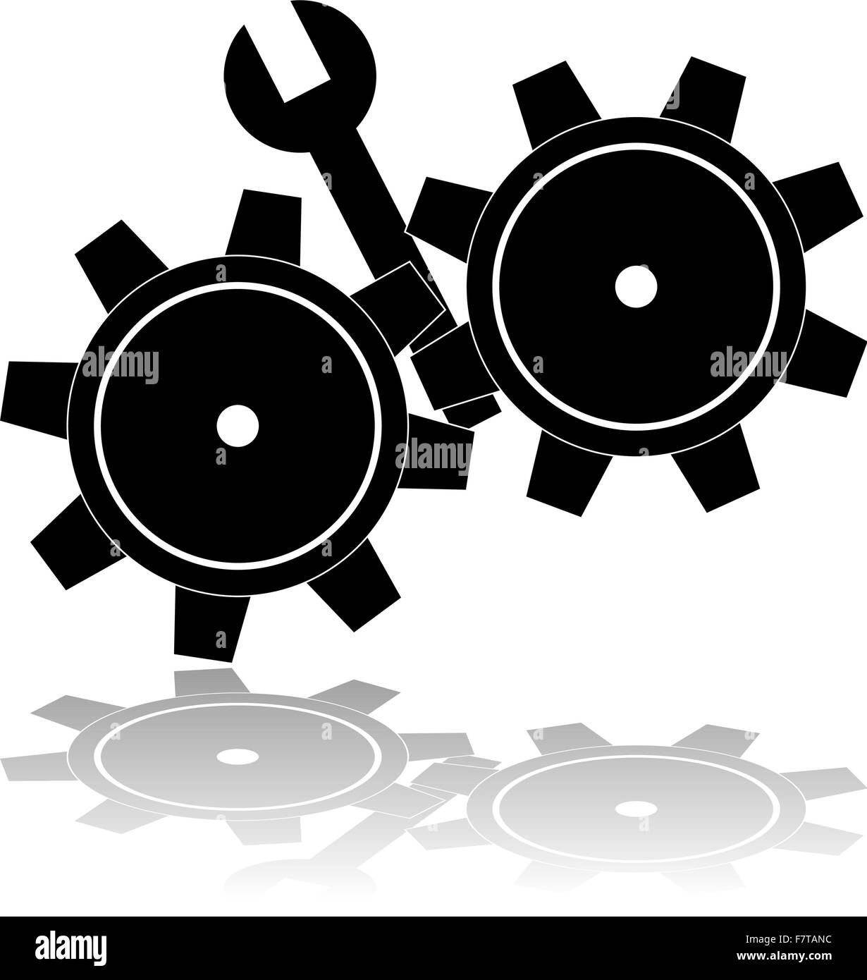 Wrench in the cogs - Stock Image