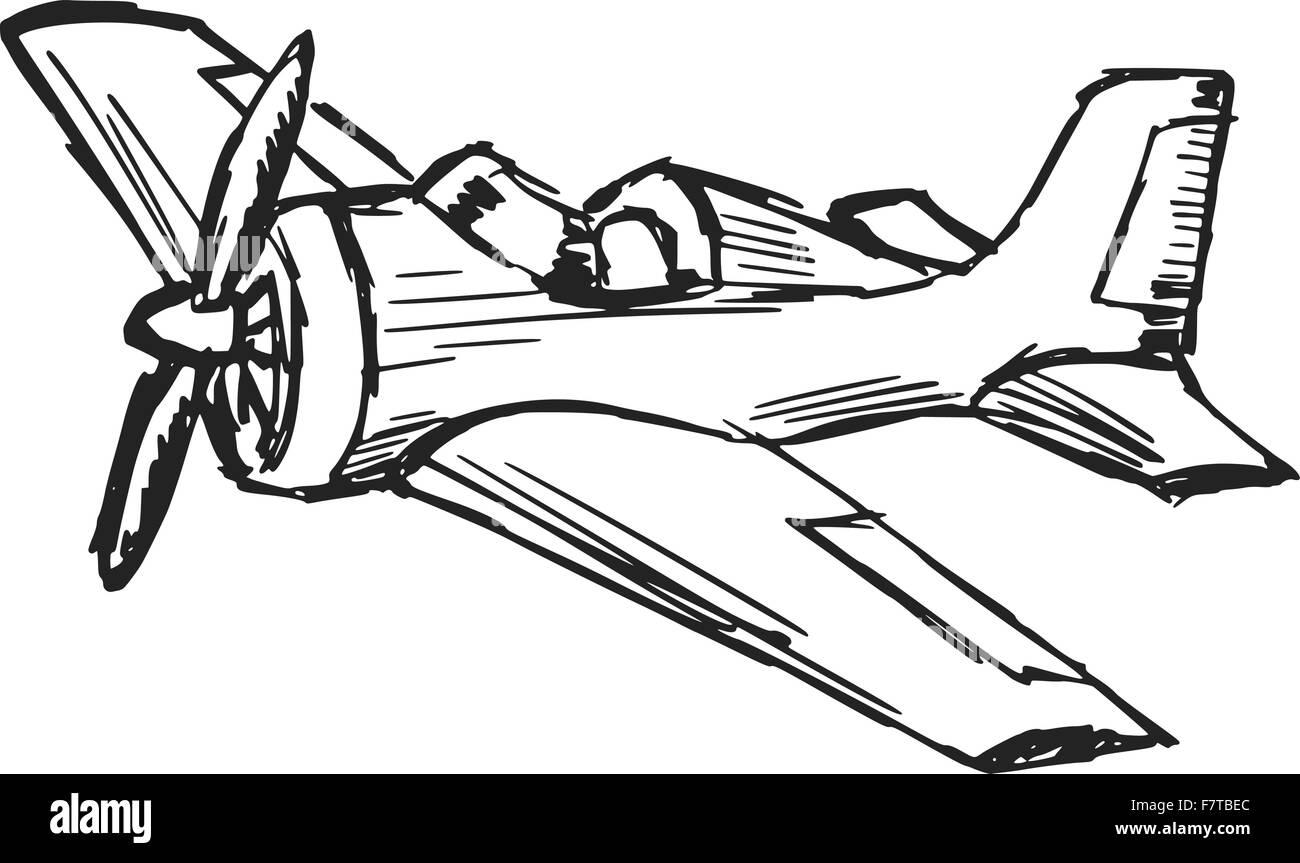 Cartoon Airplane Stock Vector Image Art Alamy