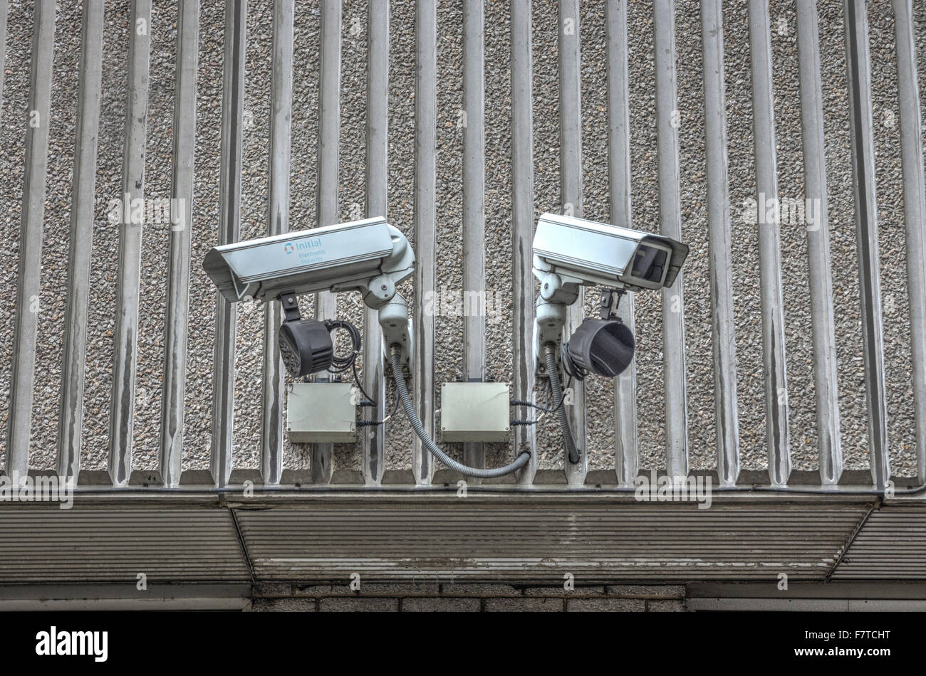 Security Cameras.  CCTV Cameras.  Security TV Cameras  surveillance - Stock Image