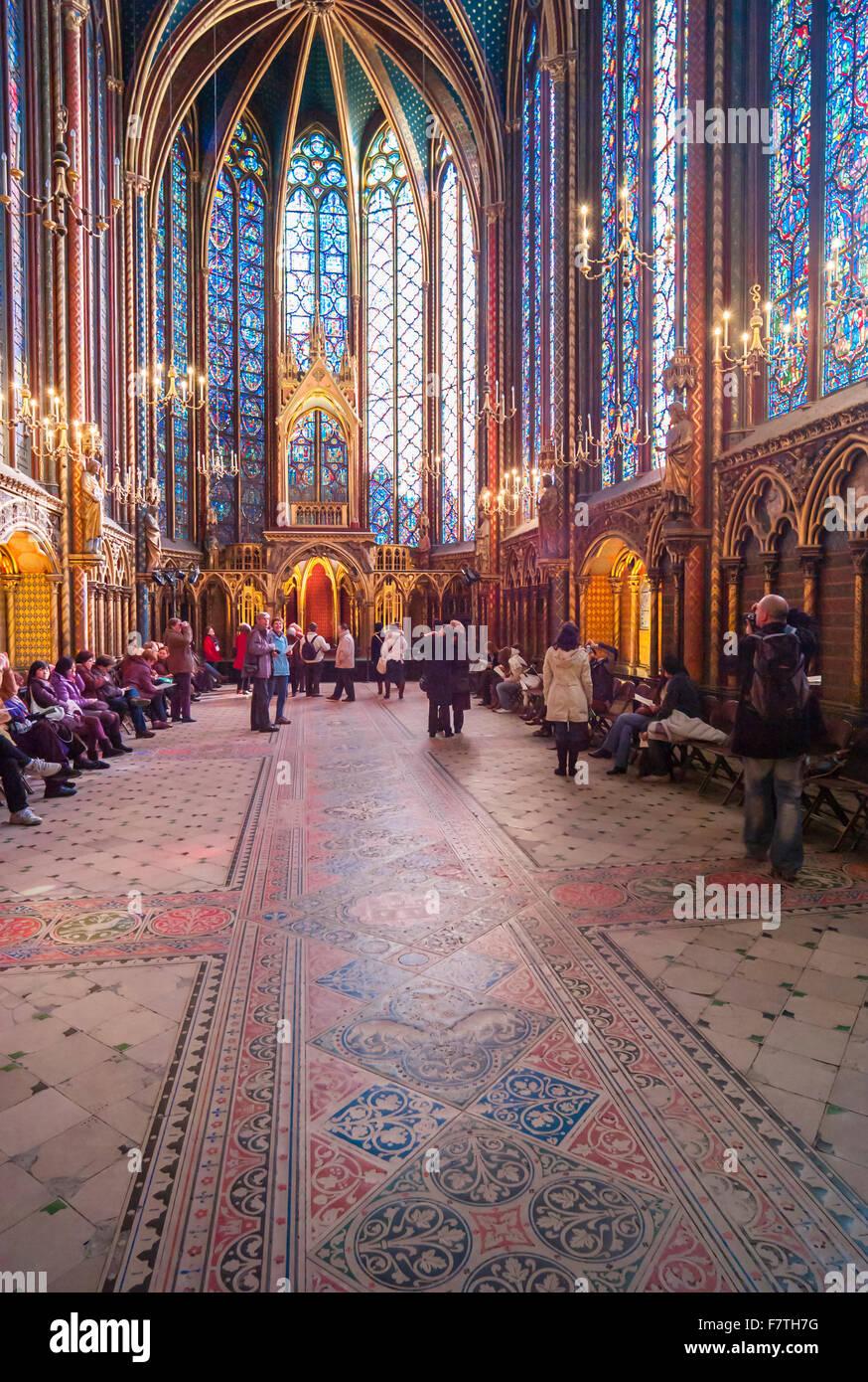 Sainte Chapelle Stained Glass Stock Photos Amp Sainte